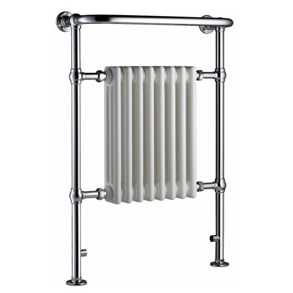 Radox Taurus Traditional Radiator Heated Towel Rail 965 H x 495 W - Chrome/White