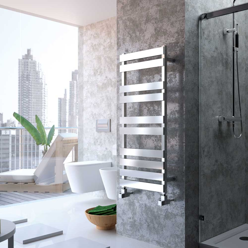 Radox Torro Designer Heated Towel Rail 1440mm H x 500mm W Anthracite-1