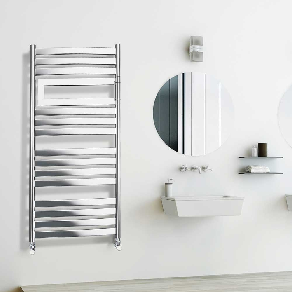 Radox Vulcan Flex Designer Heated Towel Rail 1160 mm H X 560mm W - Chrome-0