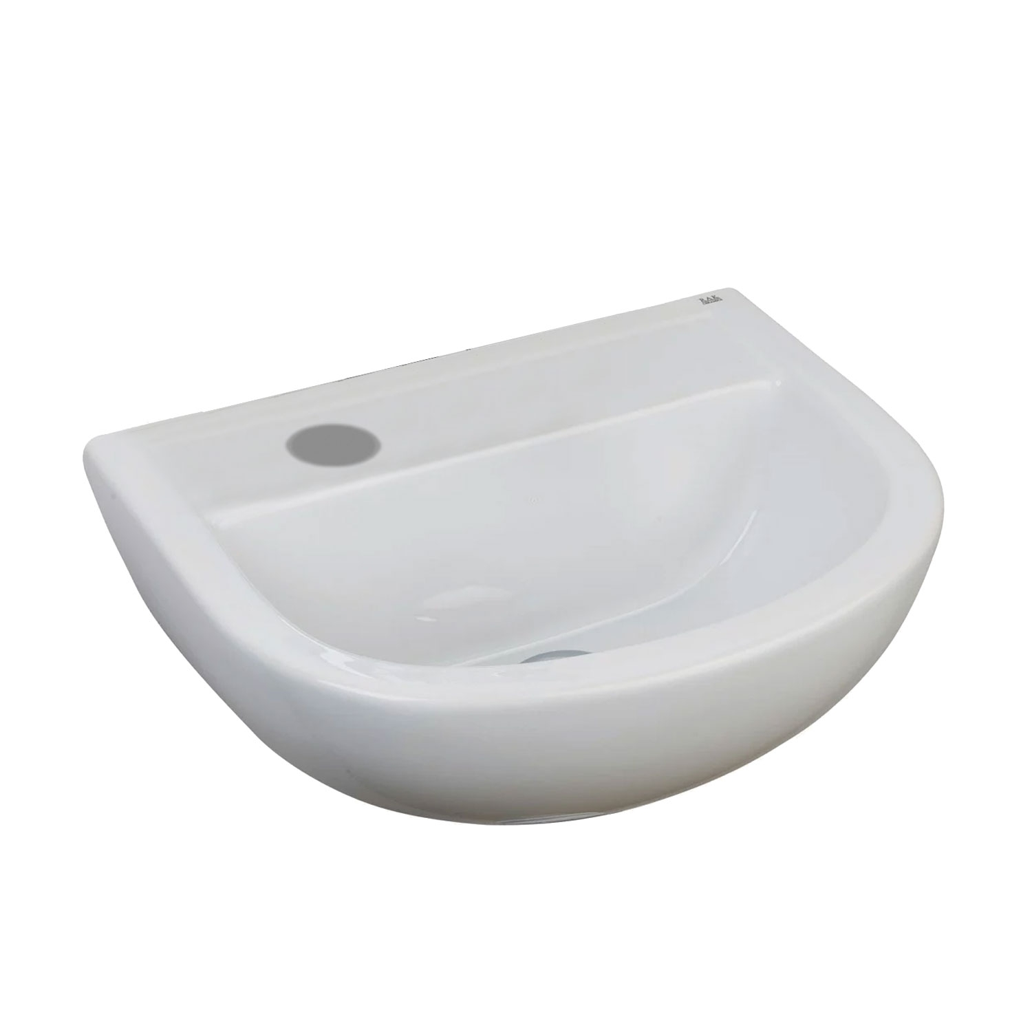 RAK Compact Special Needs Cloakroom Basin 380mm Wide 1 RH Tap Hole-0