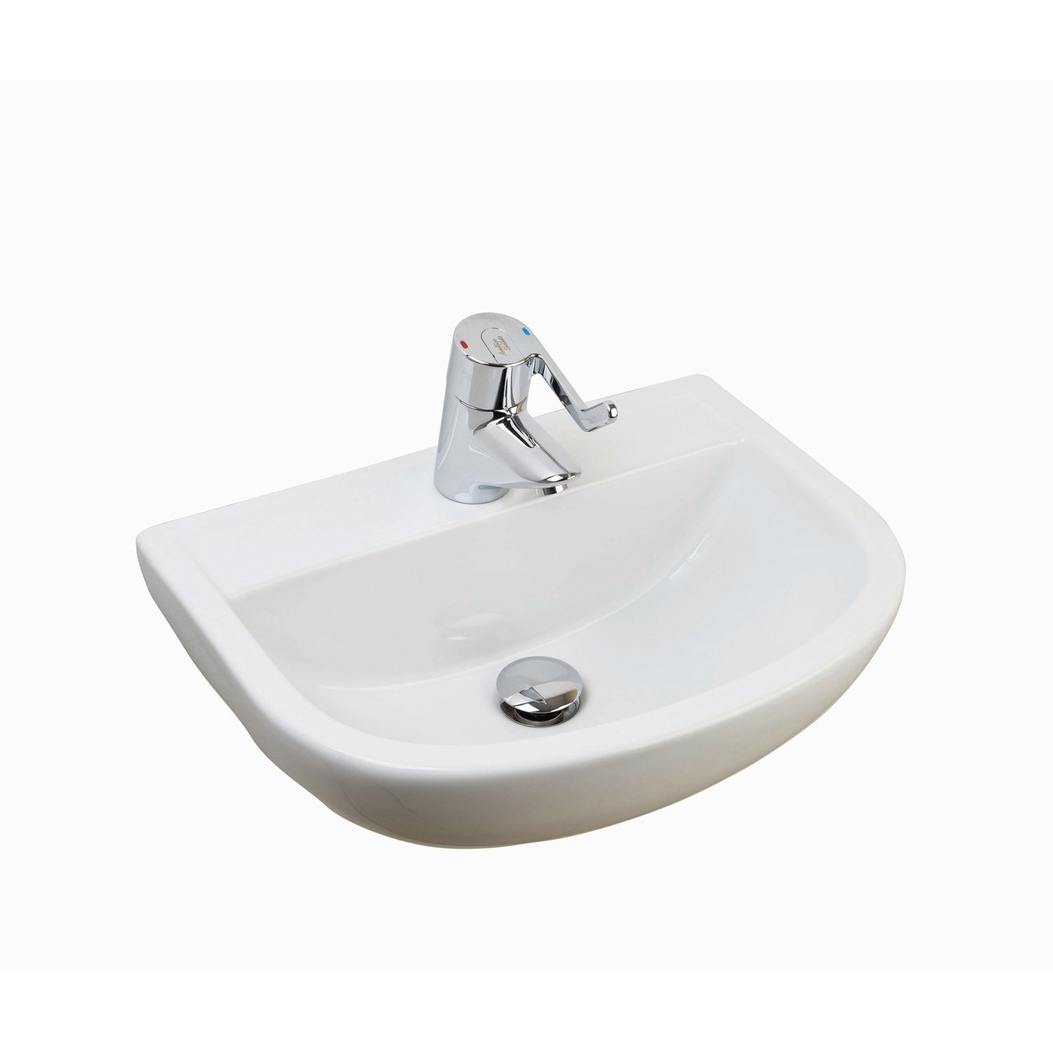 RAK Compact Special Needs Cloakroom Basin 500mm Wide 0 Tap Hole-0