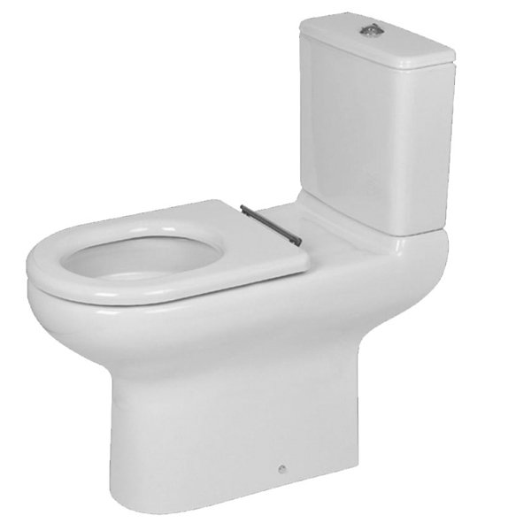RAK Compact Special Needs Close Coupled Toilet with Push Button Cistern - Ring Seat-0