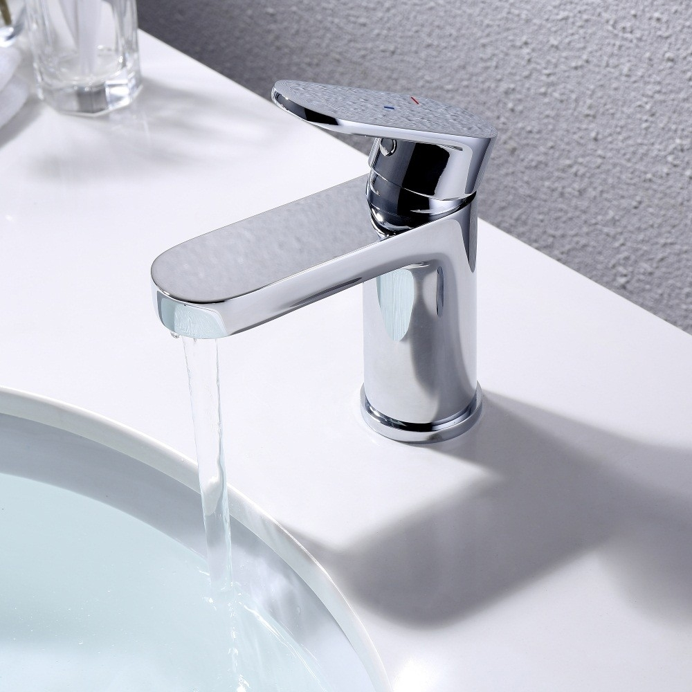 RAK Compact Mono Basin Mixer Tap Cool Start - Chrome