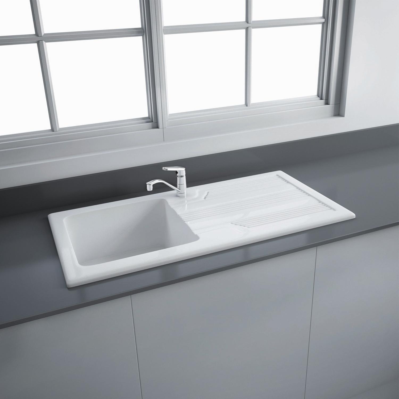 RAK Gourmet 4 Ceramic Kitchen Sink 1.0 Bowl - White-0