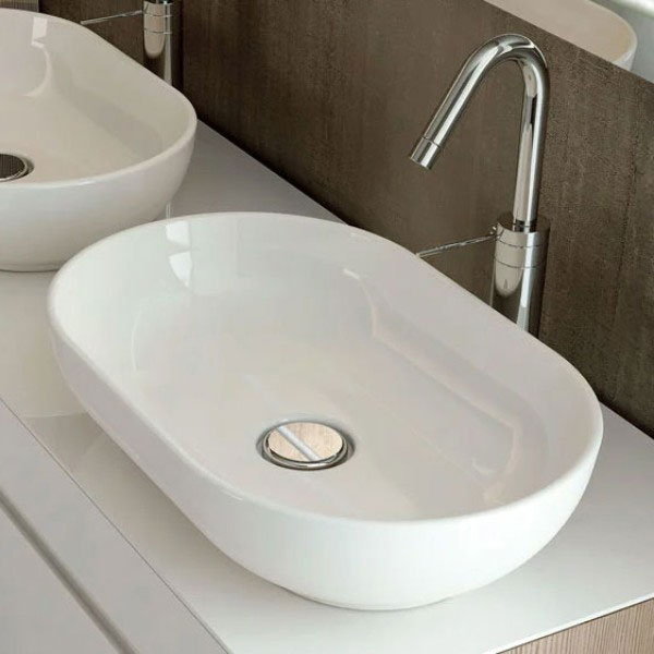 RAK Harmony Sit-On Counter Top Basin 550mm Wide 0 Tap Hole-0