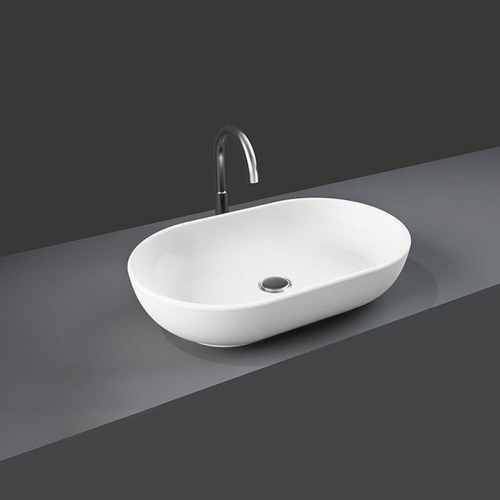 RAK Harmony Sit-On Counter Top Basin 550mm Wide 0 Tap Hole