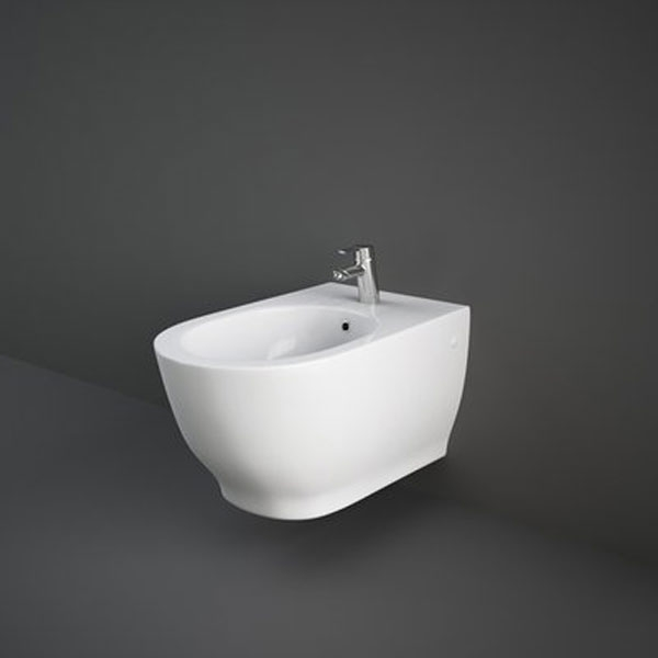 RAK Harmony Wall Hung Bidet 560mm Projection 1 Tap Hole (Tap Not Included)