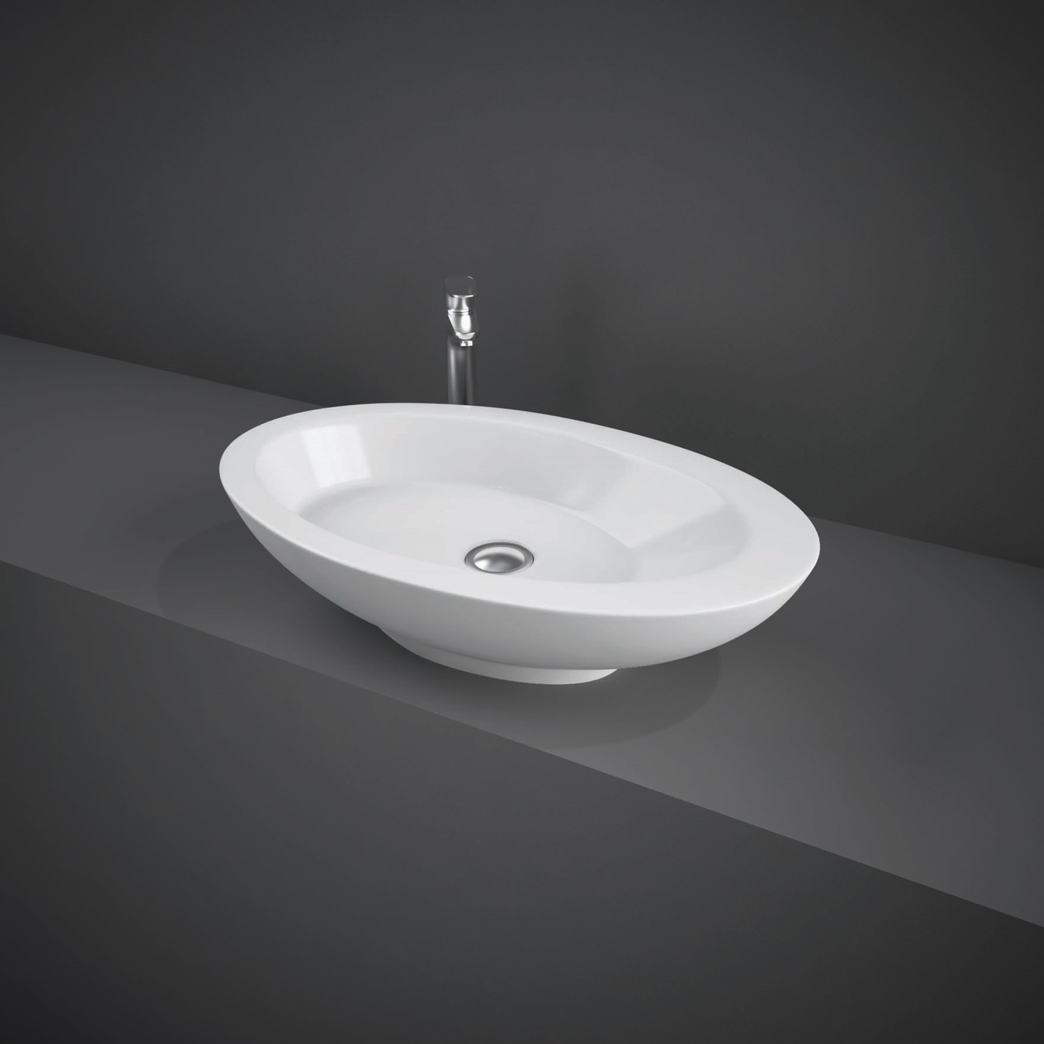 RAK Infinity Large Counter Top Basin 580mm Wide