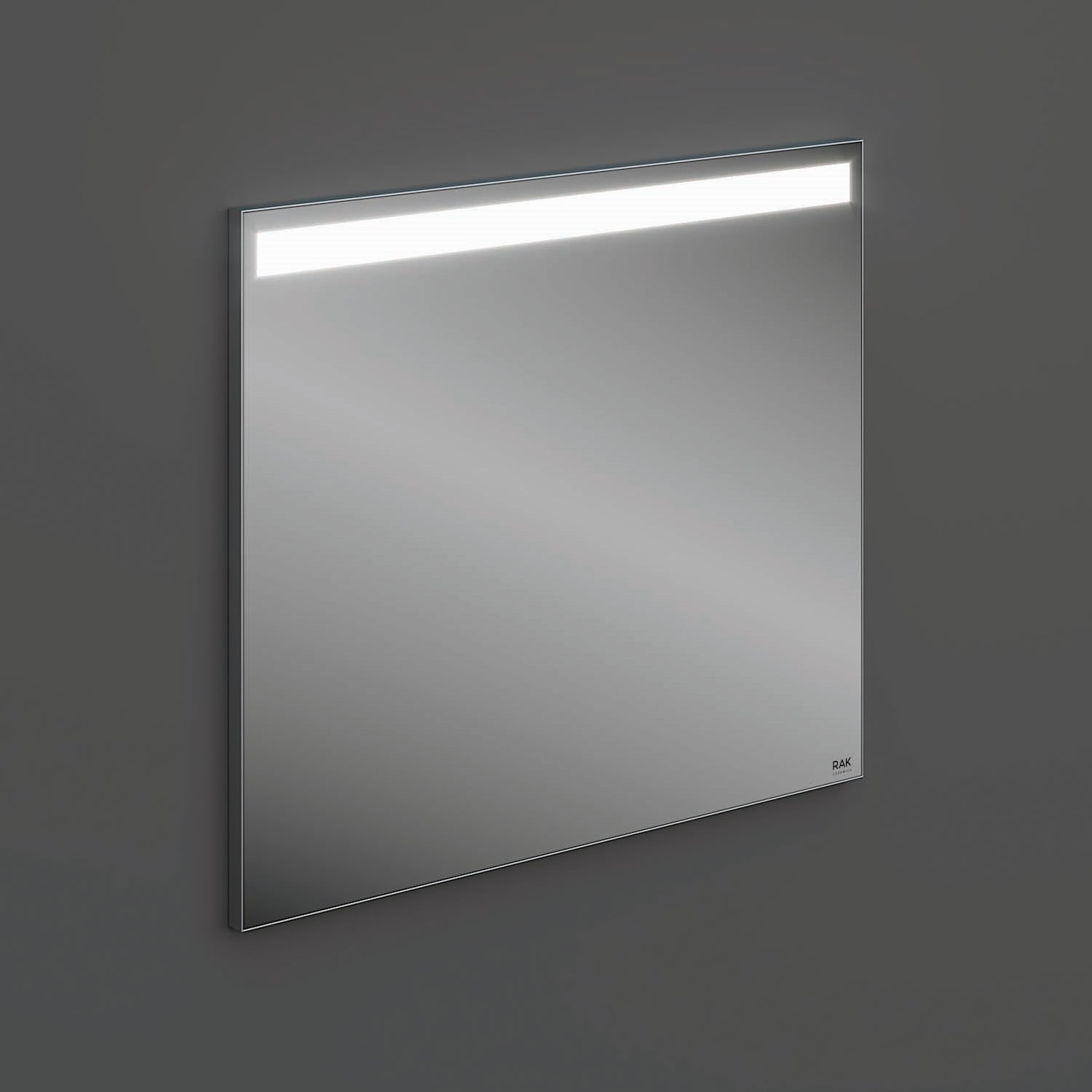 RAK Joy Wall Hung Bathroom Mirror with LED Mirror 680mm H x 800mm W