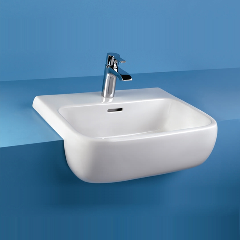 RAK Metropolitan Semi-Recessed Basin 520mm Wide 1 Tap Hole