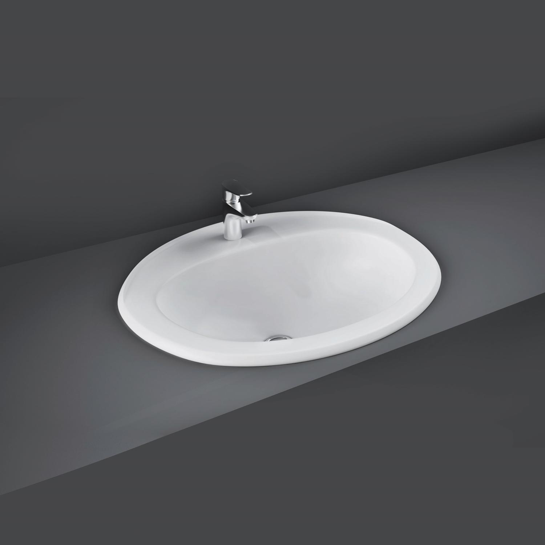 RAK Mira Inset Countertop Basin 560mm Wide - 1 Tap Hole-0