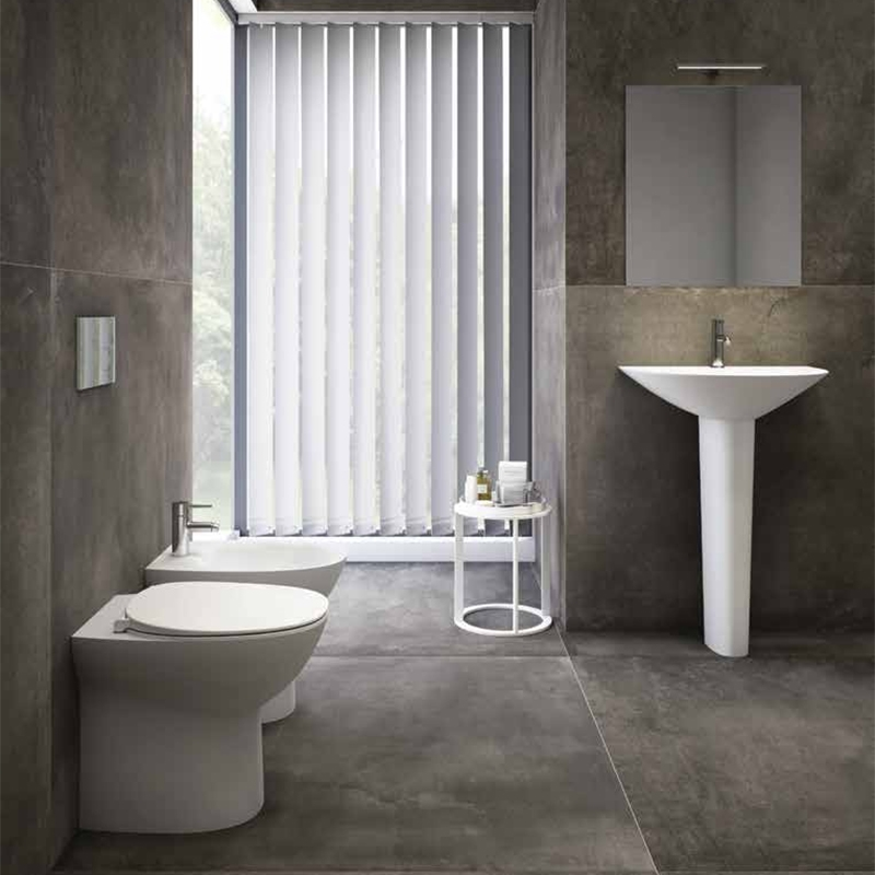 RAK Morning Basin with Full Pedestal 500mm W - 1 Tap Hole