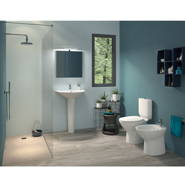 RAK Morning Basin with Full Pedestal 600mm W - 1 Tap Hole