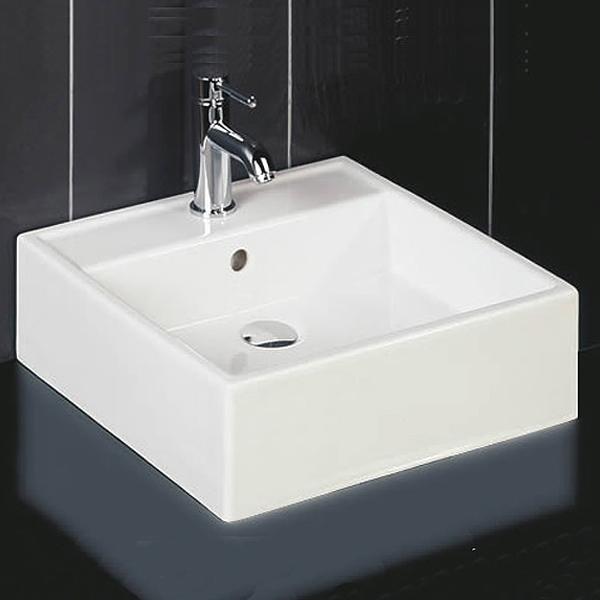 RAK Ceramics Nova 460mm Sit on Basin - 0 Tap Hole - White