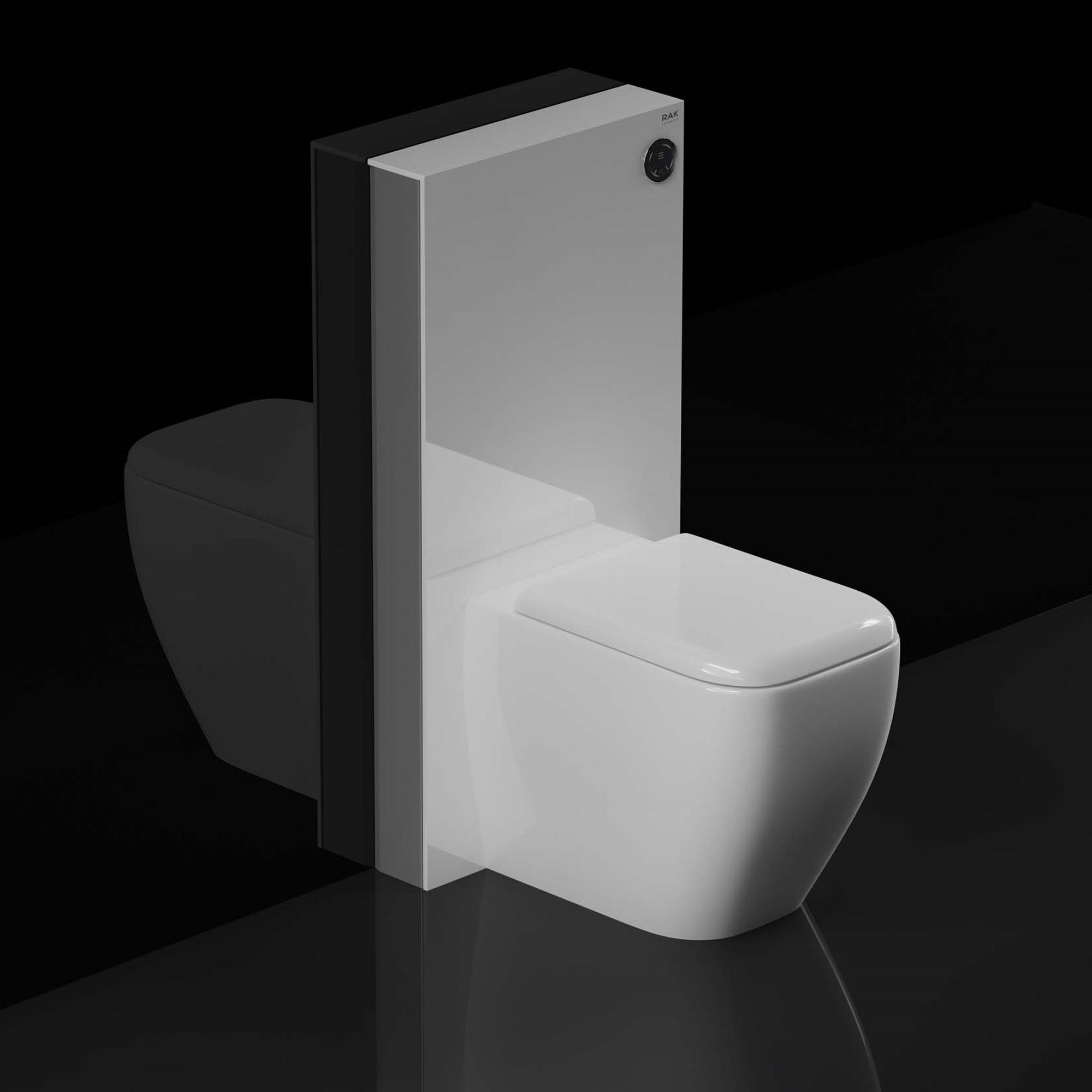 Rak Obelisk Cistern Cabinet For Back To Wall Toilet Pan White 5056176003692 Ebay