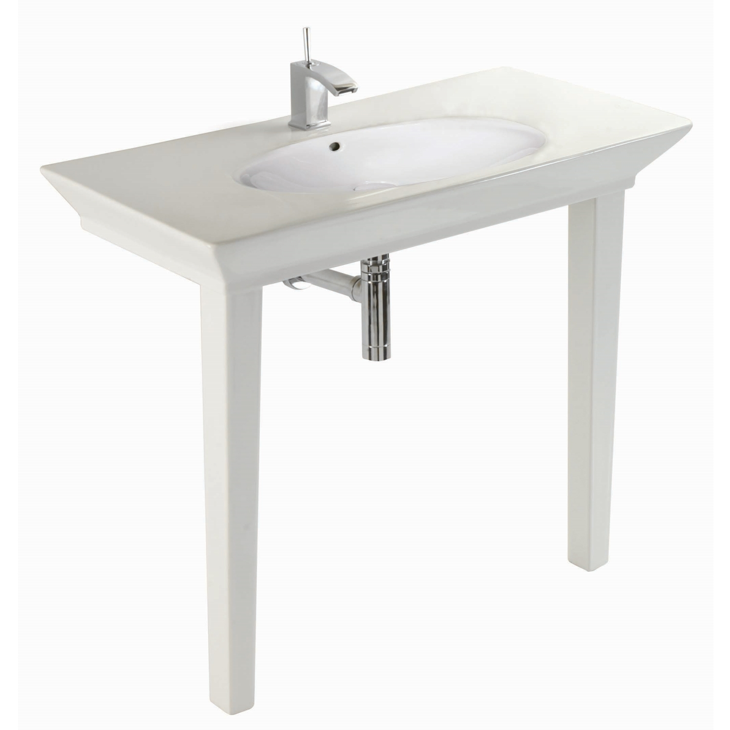 RAK Opulence Round Basin 1000mm Wide without Waste - 1 Tap Hole-1