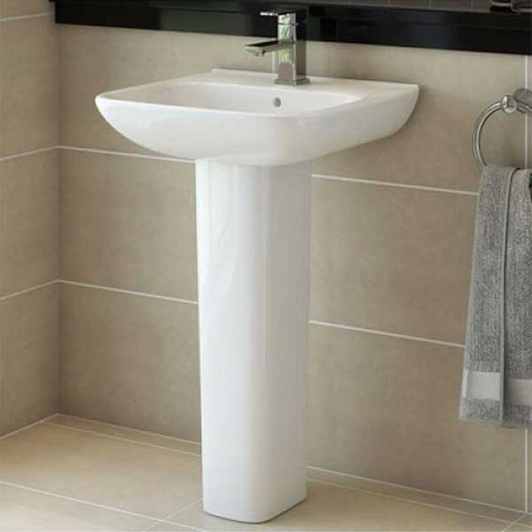 RAK Origin 62 Basin & Full Pedestal 520mm Wide 1 Tap Hole
