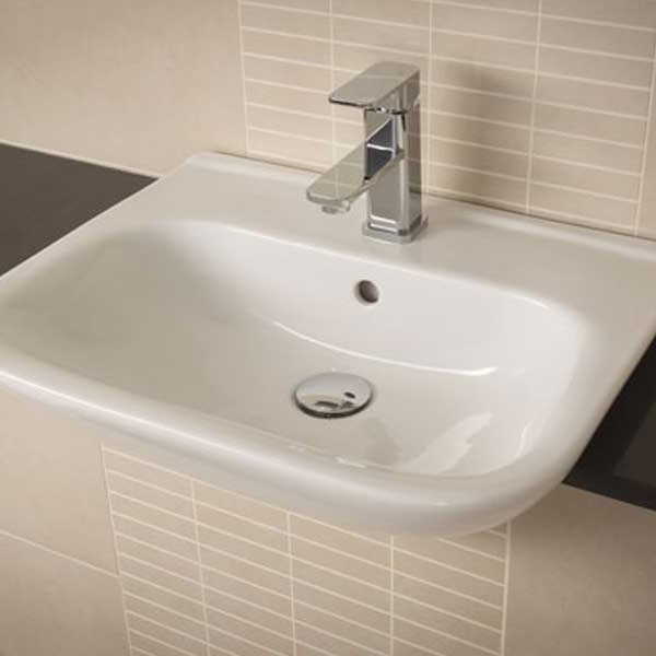 RAK Origin 62 Semi-Recessed Basin 520mm Wide 1 Tap Hole-0