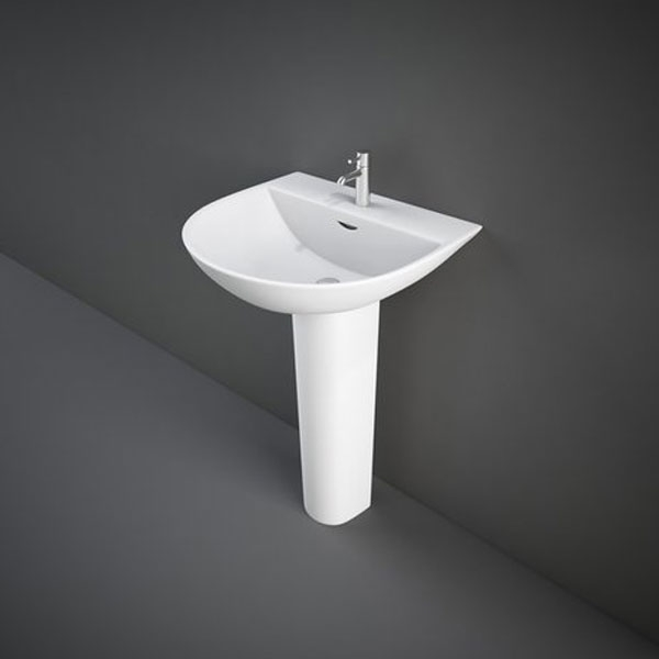 RAK Reserva Basin & Full Pedestal 550mm Wide 1 Tap Hole