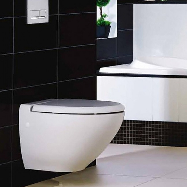 RAK Reserva Wall Hung Toilet WC 555mm Projection - Soft Close Seat