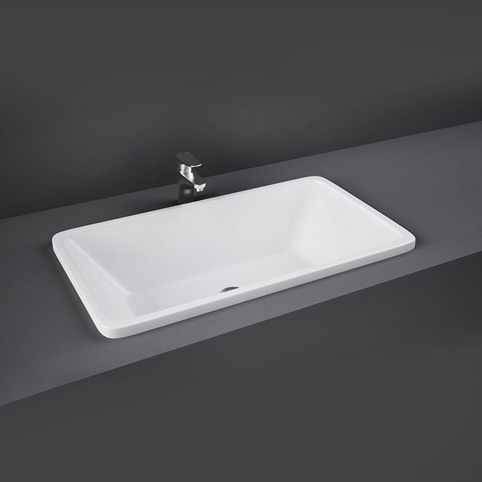RAK Chameleon Inset Counter Basin 560mm Wide 0 Tap Hole-0