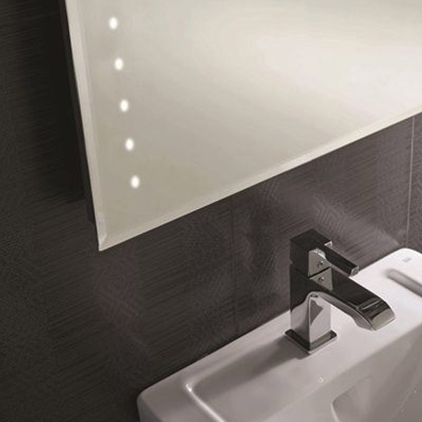 RAK Rubens Rectangular Bathroom Mirror 800mm H x 600mm W Illuminated