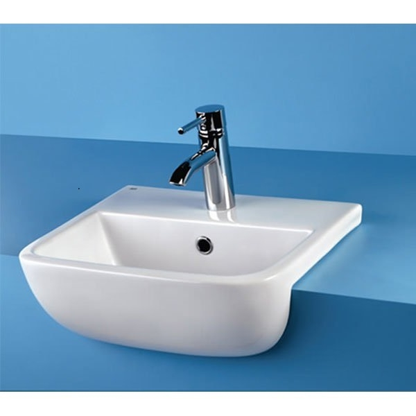 RAK Series 600 Semi-Recessed Basin 520mm Wide 1 Tap Hole