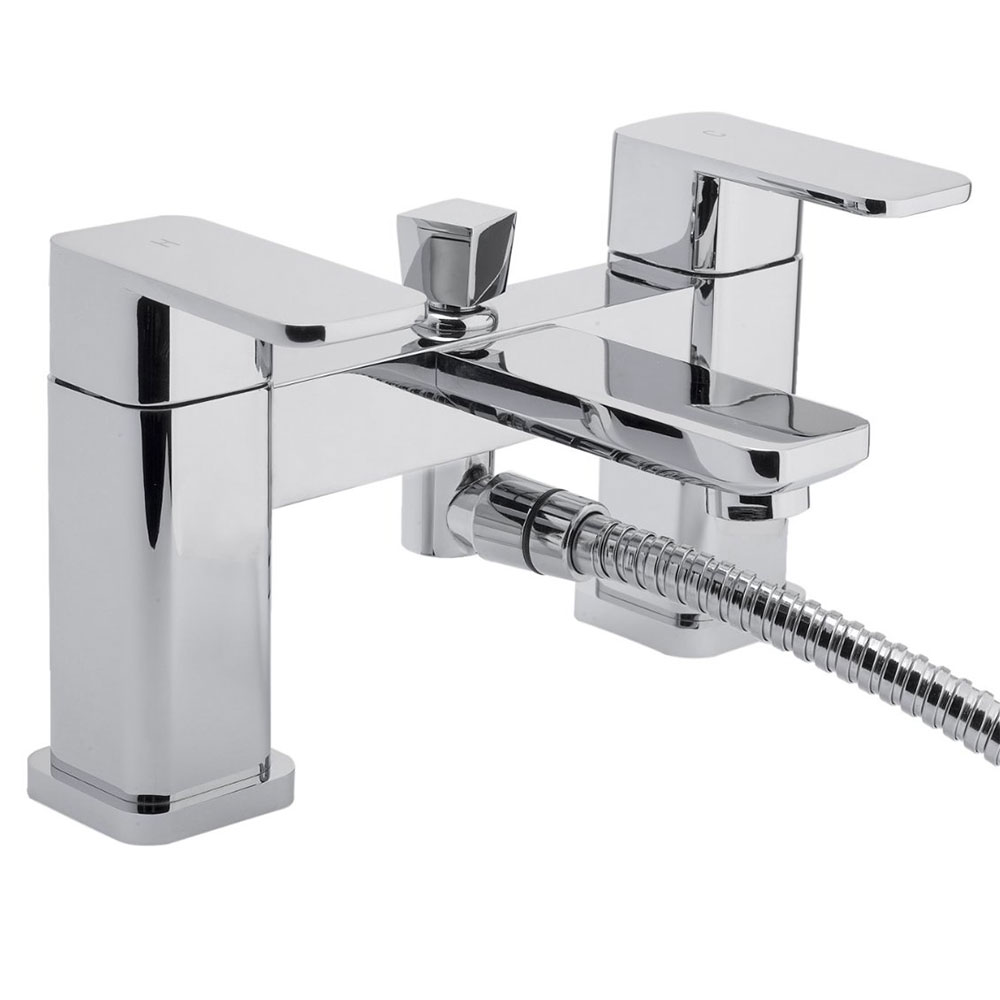 RAK Square Bath Shower Mixer Tap Deck Mounted - Chrome