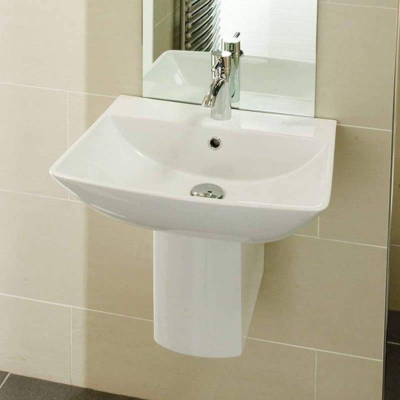 RAK Summit Basin & Semi Pedestal 600mm Wide 1 Tap Hole