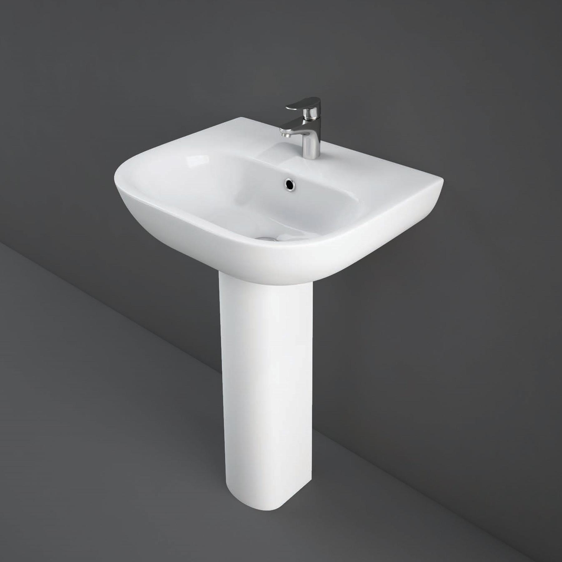 RAK Ceramics Tonique 4 Piece Bathroom Suite 1 Tap Hole-0