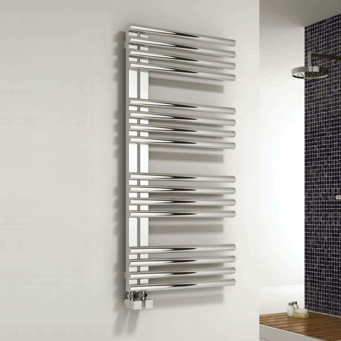 Reina Adora Designer Heated Towel Rail 800mm H x 500mm W Polished Stainless Steel