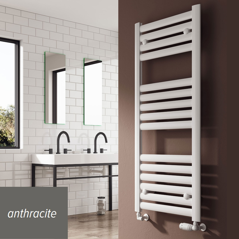 Reina Anita Designer Heated Towel Rail 835mm H x 530mm W Anthracite