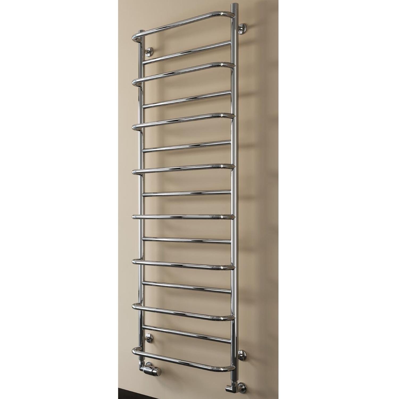 Reina Belbo Designer Heated Towel Rail 1180mm H x 530mm W Polished Stainless Steel