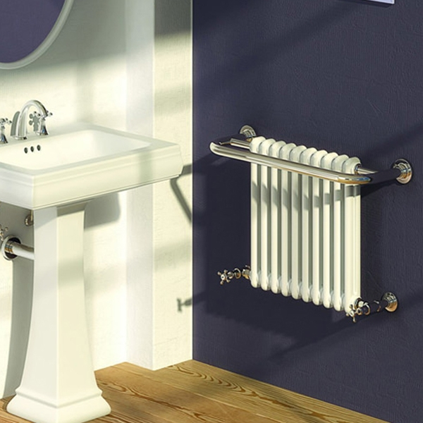 Reina Camden Radiator Heated Towel Rail 508mm H x 770mm W White/Chrome