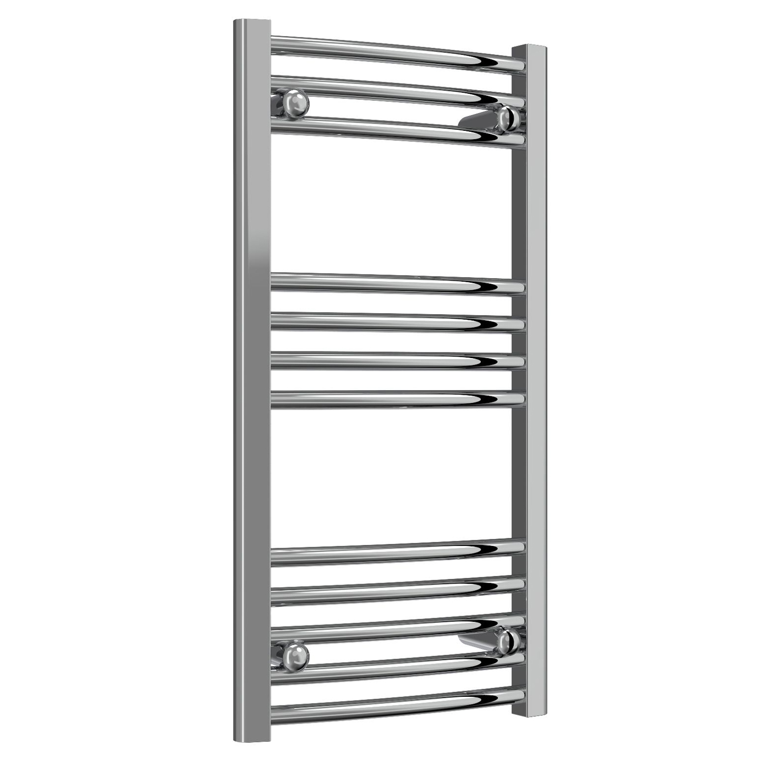 Reina Capo Curved Electric Heated Towel Rail 800mm H x 400mm W Chrome
