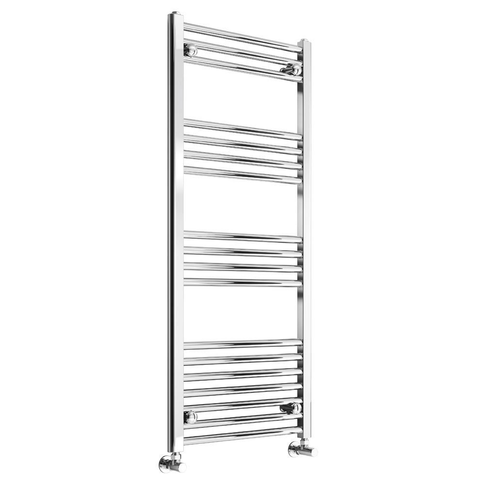 Reina Capo Straight Heated Towel Rail 800mm H x 400mm W Chrome