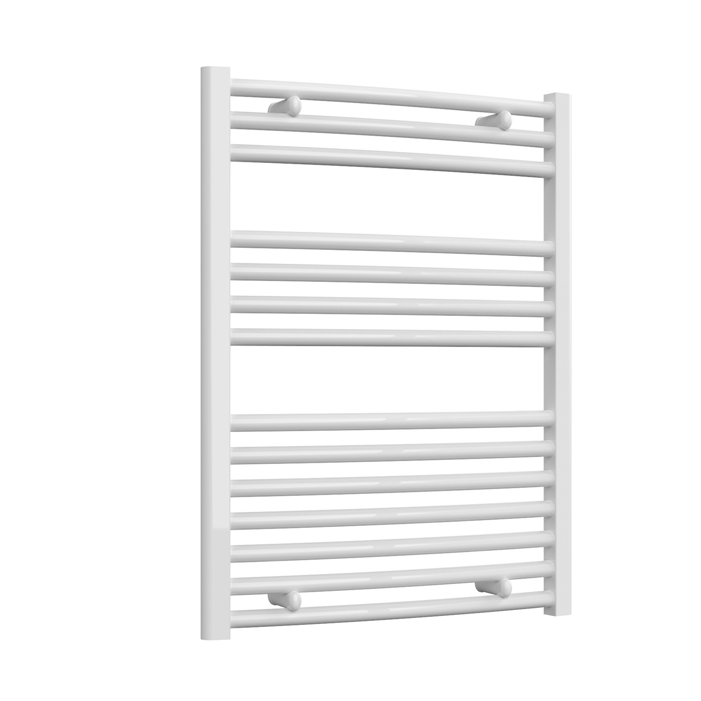 Reina Diva Curved Heated Towel Rail 800mm H x 600mm W White