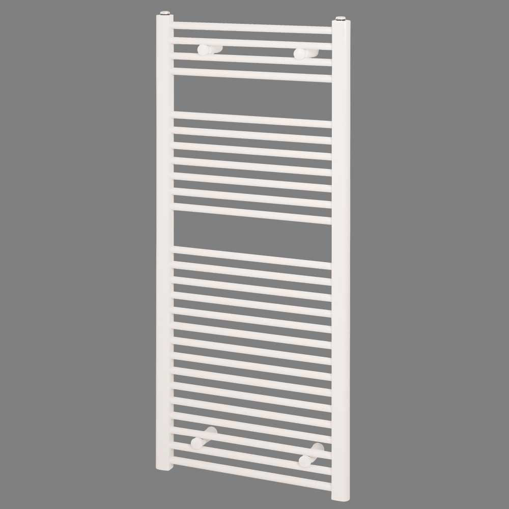 Reina Diva Electric Straight Heated Towel Rail 800mm H x 400mm W White