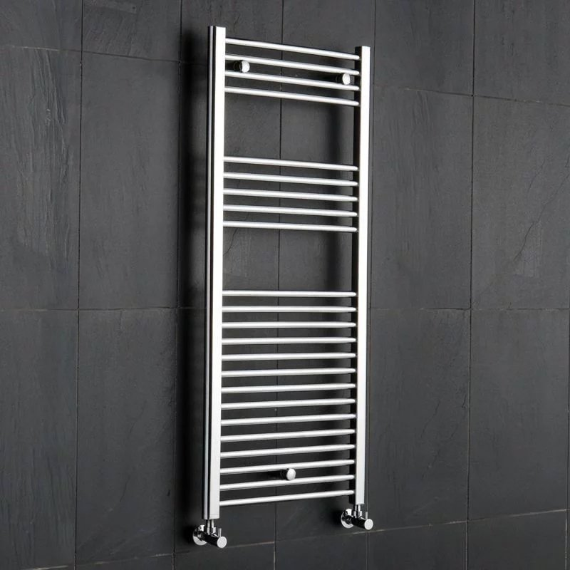 Reina Diva Electric Straight Heated Towel Rail 800mm H x 500mm W Chrome-0