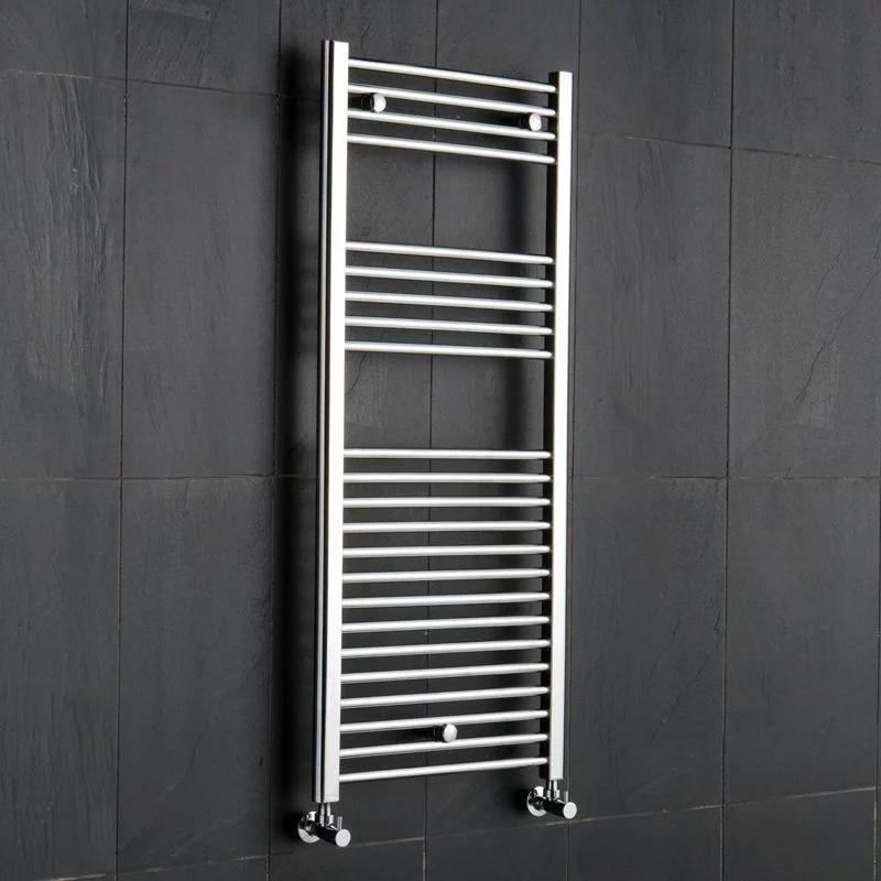 Reina Diva Electric Straight Heated Towel Rail 800mm H x 600mm W Chrome-0