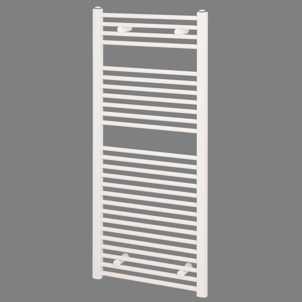 Reina Diva Electric Straight Heated Towel Rail 800mm H x 600mm W White