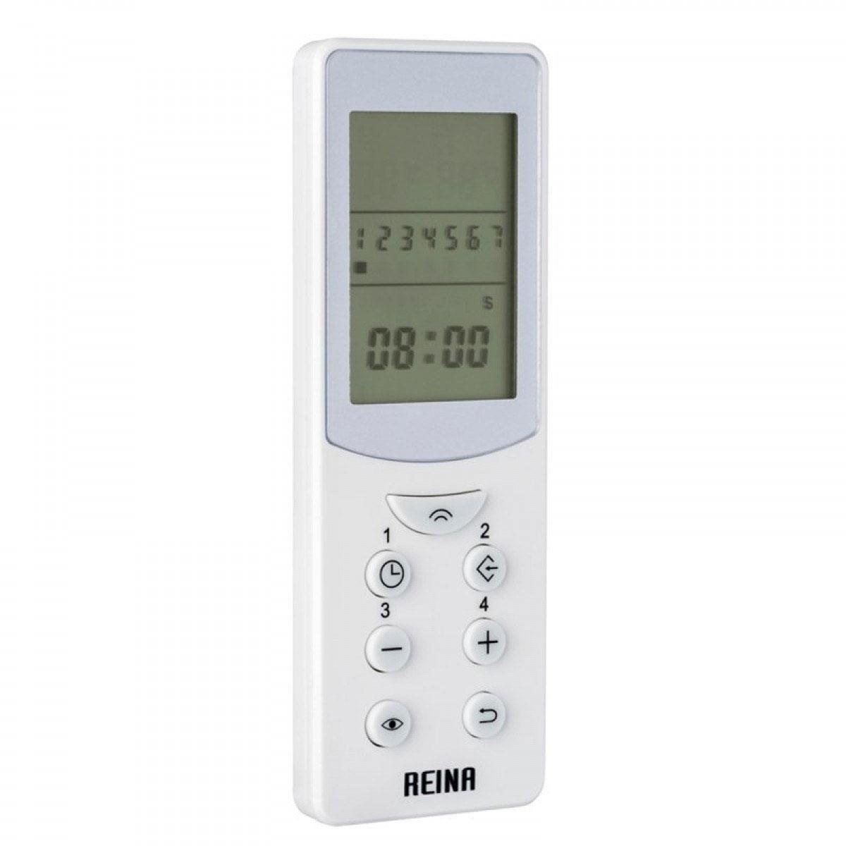 Reina Diva Thermostatic Electric Straight Heated Towel Rail 800mm H x 300mm W Chrome-1