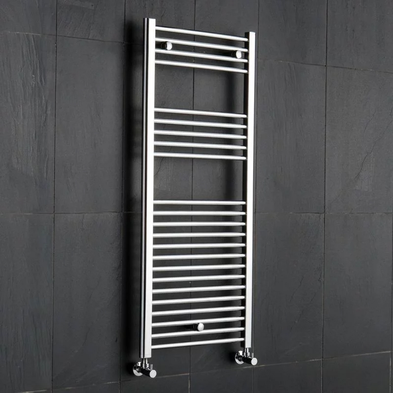Reina Diva Thermostatic Electric Straight Heated Towel Rail 1200mm H x 600mm W Chrome-0