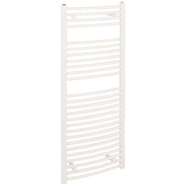 Reina Diva Electric Curved Heated Towel Rail 1200mm H x 450mm W White