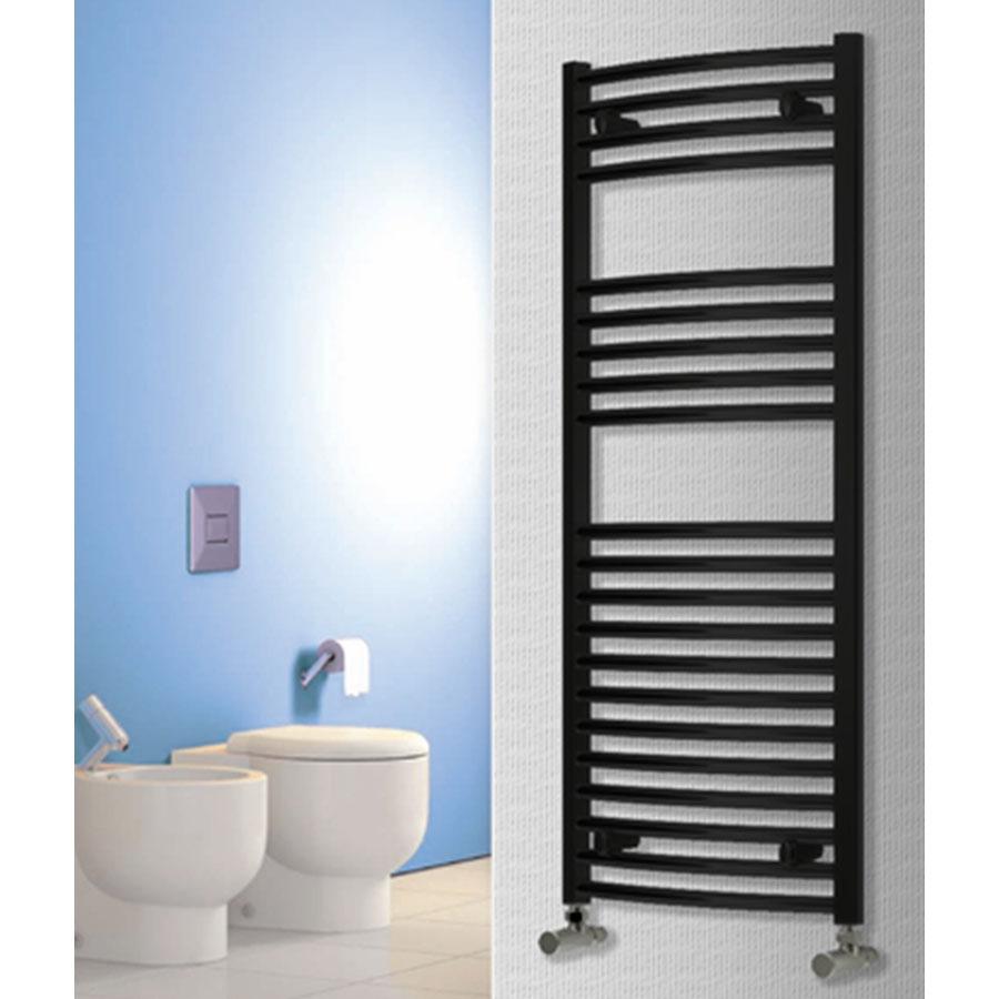 Reina Diva Electric Straight Heated Towel Rail 1200mm H x 600mm W Black