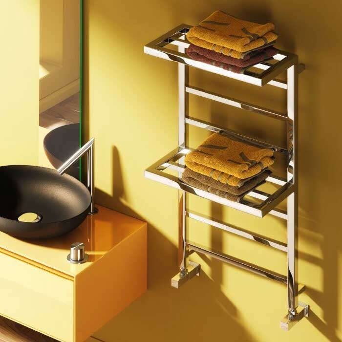 Reina Elvina 2 Designer Heated Towel Rail 1000mm H x 500mm W Chrome