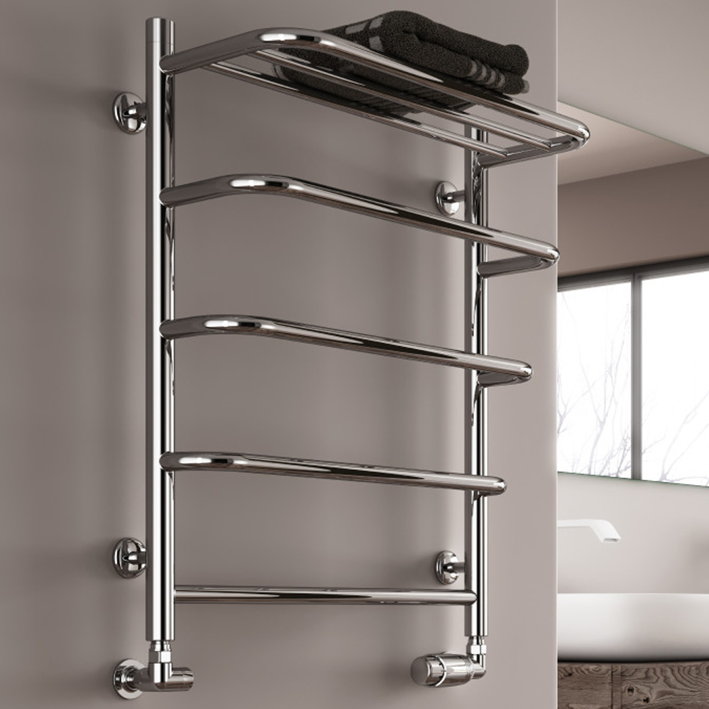 Reina Elvo Designer Heated Towel Rail 660mm H x 530mm W Polished Stainless Steel