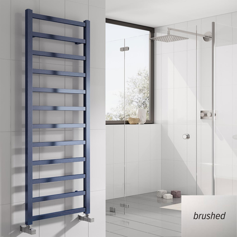 Reina Fano Designer Heated Towel Rail 720mm H x 485mm W Brushed