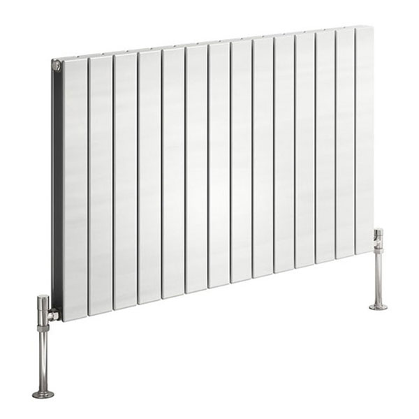 Reina Flat Double Designer Horizontal Radiator 600mm H x 440mm W White