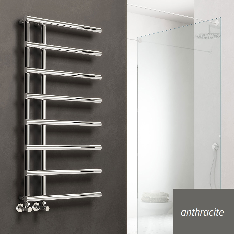 Reina Matera Designer Heated Towel Rail 998mm H x 500mm W Anthracite
